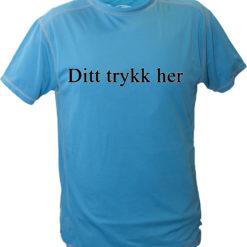 Tshirt med motivtrykk